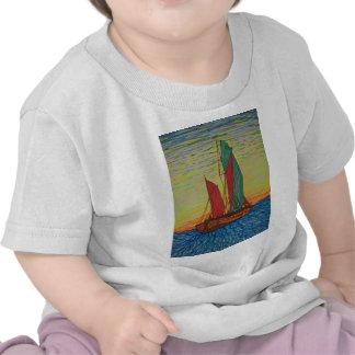 navegación lejos camisetas