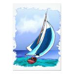 Navegación lejos invitación 12,7 x 17,8 cm