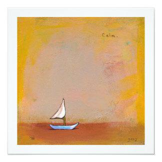 Navegación lisa - arte moderno de la calma de la invitación 13,3 cm x 13,3cm
