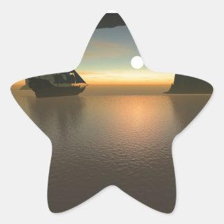 Navegación lisa pegatina en forma de estrella