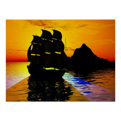 Navegación lisa póster