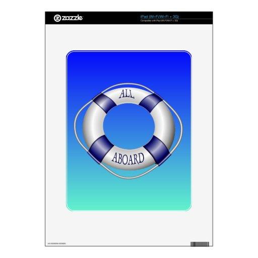 Navegación lisa y feliz - toda a bordo de vacacion skins para iPad