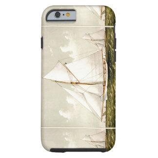 Navegación náutica del velero del vintage en los funda de iPhone 6 tough