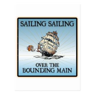 Navegación, navegación - sobre la tubería de limit tarjeta postal