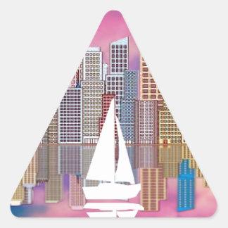 navegación pegatina triangular