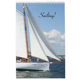 ¡Navegación!  Placeres del mar, calendario