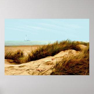 Navegación por la duna de arena poster