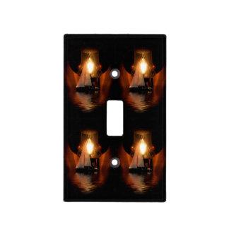 Navegación por la luz de la linterna placa para interruptor