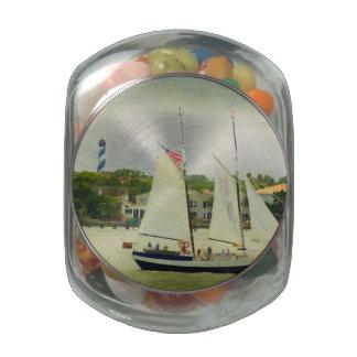 Navegación por la luz jarras de cristal