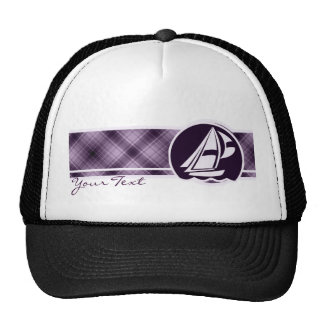 Navegación púrpura gorros bordados