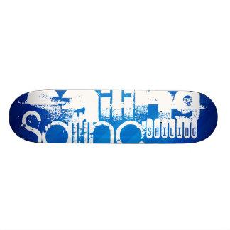 Navegación; Rayas azules reales Patineta Personalizada