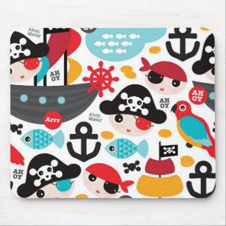 Navegación retra del ejemplo de los piratas alfombrillas de ratones