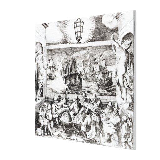 Navegación Titlepage, 1600 Lona Envuelta Para Galerias