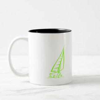 Navegación verde chartreuse, de neón taza de dos tonos