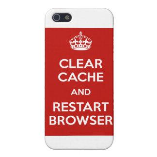 Navegador claro del escondrijo y del recomienzo iPhone 5 fundas