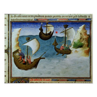 Navegadores que usan un astrolabio posters