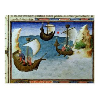 Navegadores que usan un astrolabio postal