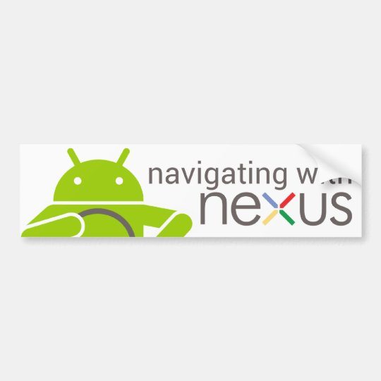 Navegando con NEXO, pegatina para el parachoques a Pegatina Para Auto