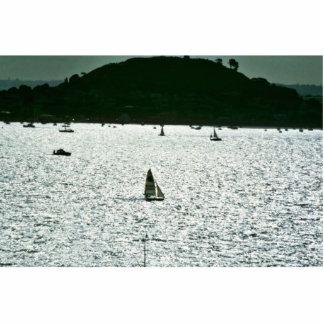Navegando en el puerto de Auckland, isla del norte Fotoescultura Vertical