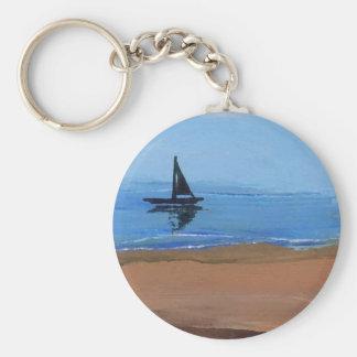 Navegando una brisa apacible - naves de la imagina llavero redondo tipo pin