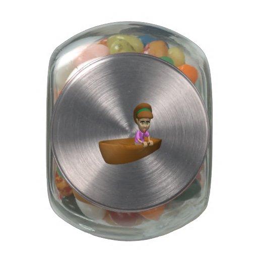 Navegante de la mujer frascos de cristal