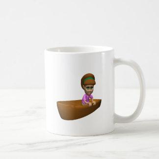 Navegante de la mujer taza