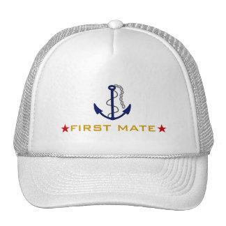 Navegante del primer compañero gorras