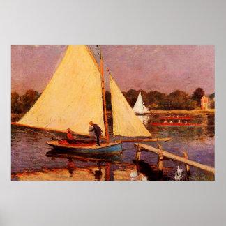 Navegantes en Argenteuil, 1874 Póster