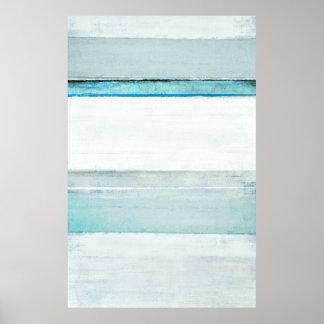 """""""Navegue"""" el arte abstracto azul Póster"""