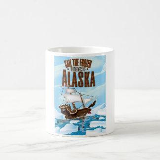 Navegue el desierto congelado de Alaska Taza De Café