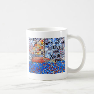 Navegue el mar y fije su corazón y alcohol libres taza de café