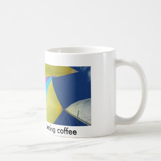 Navegue en su café de la mañana - taza de café