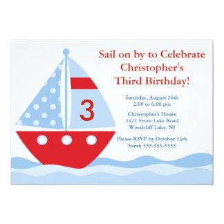 Navegue encendido cerca y celebre la invitación invitación 12,7 x 17,8 cm