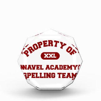 Navel Academy Spelling Team Red Acrylic Award