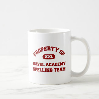 Navel Academy Spelling Team Red Classic White Coffee Mug