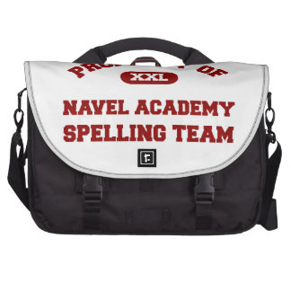 Navel Academy Spelling Team Red Laptop Bags