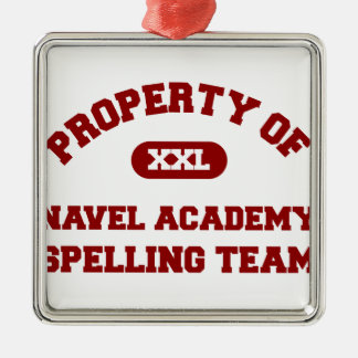 Navel Academy Spelling Team Red Christmas Tree Ornament