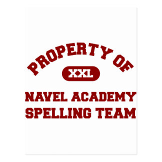 Navel Academy Spelling Team Red Postcard