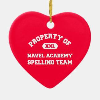Navel Academy Spelling Team white Ornament