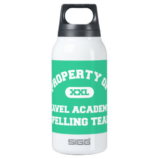 Navel Academy Spelling Team white 10 Oz Insulated SIGG Thermos Water Bottle