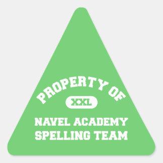 Navel Academy Spelling Team white Stickers