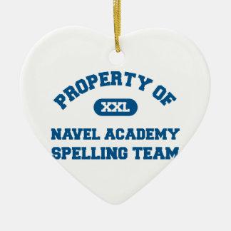 Navel Spelling Team Blue Christmas Tree Ornament