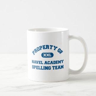 Navel Spelling Team Blue Classic White Coffee Mug