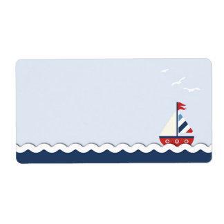 ¡Naves Ahoy! Etiqueta conocida Etiqueta De Envío