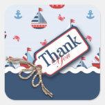 ¡Naves Ahoy! Pegatina cuadrado de TY