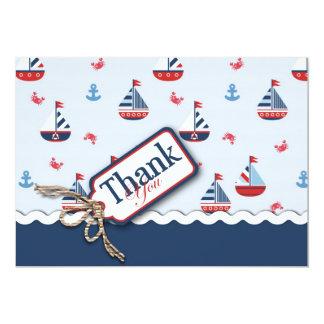"""¡Naves Ahoy! Tarjeta 2 de TY Invitación 5"""" X 7"""""""