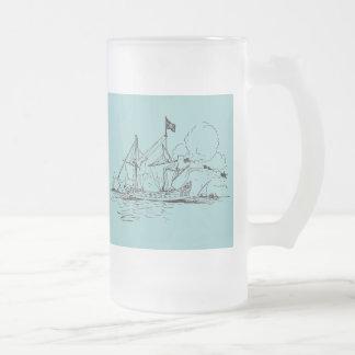 Naves altas tazas de café