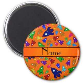 Naves anaranjadas conocidas personalizadas del imán para frigorifico