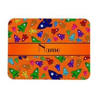 Naves anaranjadas conocidas personalizadas del imán rectangular