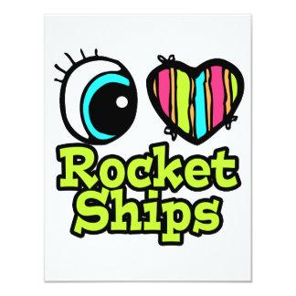 Naves brillantes de Rocket del amor del corazón I Anuncio Personalizado